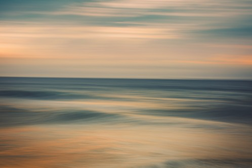 A calm morning down by the ocean. 'Stanwell Park Beach, NSW, Australia'.